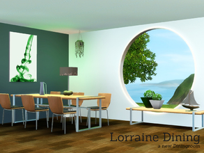 Sims 3 — Lorraine Dining by Angela — Lorraine Dining a new set made out of 7 new meshes. All fully castable. Set contains