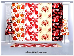 Sims 3 — Sweet-Hearts_marcorse. by marcorse — Valentine's patterns featuring hearts, gifts, chocolates and love knots.