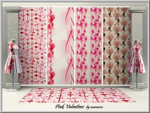 Sims 3 — Pink Valentines_marcorse by marcorse — 4 Themed Valentines patterns in shades of pink
