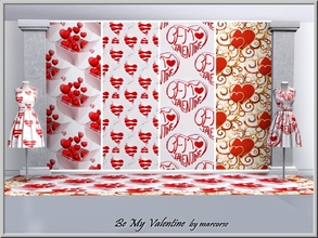 Sims 3 — Be My Valentine_marcorse.. by marcorse — Four Themed Valentine patterns in red and white