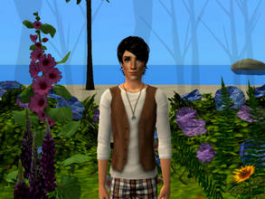 Sims 2 — Rufus by sirok2 — Let me introduce this handsome boy. It\'s Rufus. He likes nature and gardening.