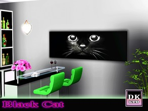 Sims 3 — Black Cats Face by DK_LTD — A cute black cat picture.