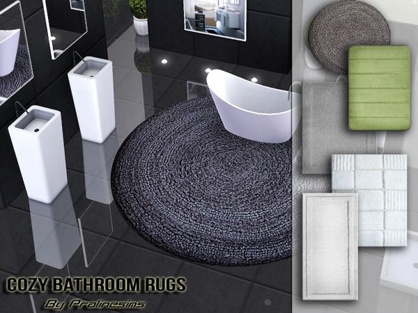 Cozy Bathroom Rugs by Pralinesims