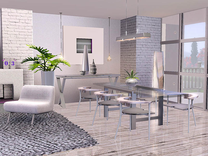 Ung999 39 s simplicity for Sims 3 dining room ideas