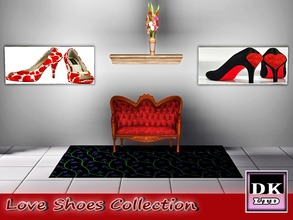 Sims 3 — Love Shoes Collection by DK_LTD — Pictures Of Stylish Shoes with love hearts.
