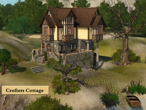 Sims 3 — Crofters Cottage by Demented_Designs — A one bedroom island cottage for your reclusive sim, located on the