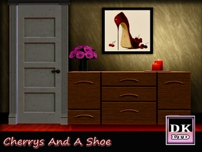 Sims 3 — Cherrys And A  Shoe. by DK_LTD — Stylish picture of a red shoe and some cherrys.