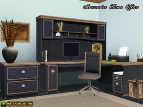 Sims 3 — Maxandre Home Office by Canelline — What a man needs to feel right at home, it's a room where he can isolate to