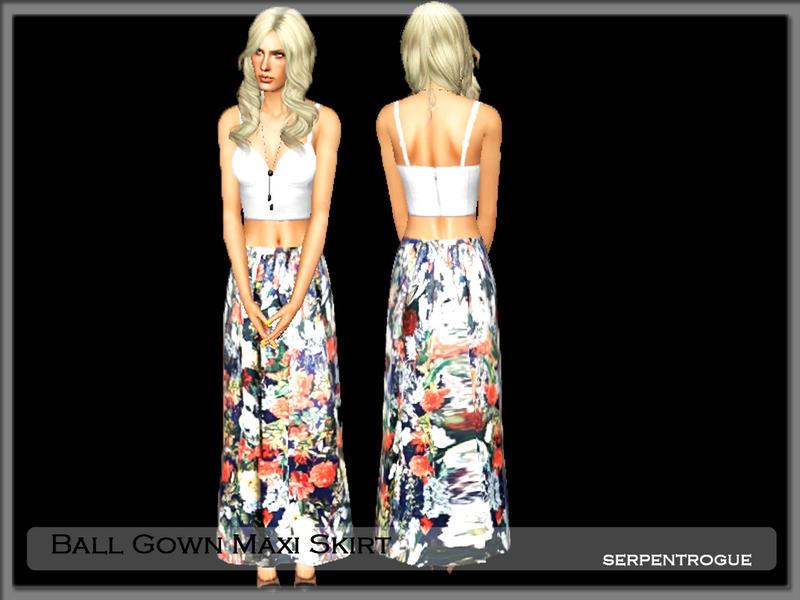 Serpentrogue\'s Ball Gown Maxi Skirt