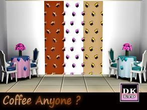 Sims 3 — Coffee Anyone? by DK_LTD — Coffee style wallpaper, would look great in a coffee shop.