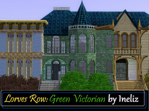 Sims 3 — Lorves Row: Green Victorian by Ineliz — If your sims want to move in to a house with beautiful Victorian