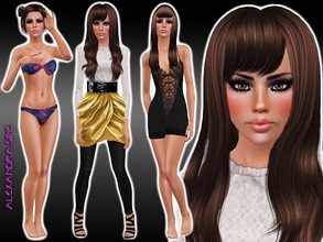Sims 3 — Eliza Henderson by Alexandra_Sine — Eliza Henderson has always had an eye for fashion and been talented in the