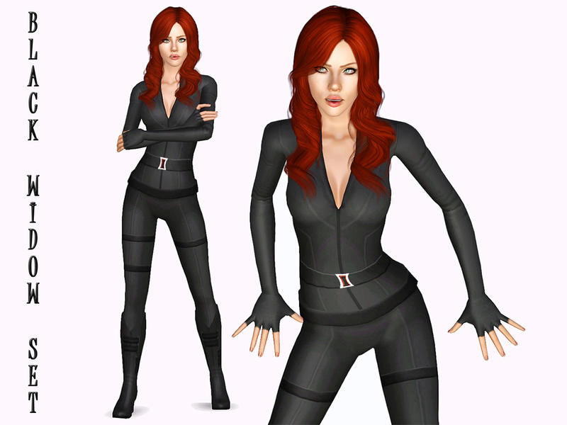 Ms Blue S Avengers Black Widow Set