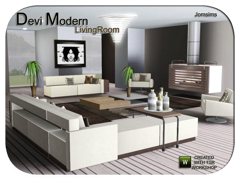 Jomsims 39 devi modern livingroom for 3 star living room chair sims