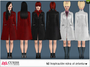 Sims 3 — curbs Outerwear 04 by Colores_Urbanos — Outerwear in 3 recolores, 3 recolorable area. valid for maternity!!!