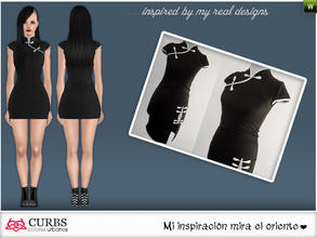 Sims 3 — curbs mini dress 06 by Colores_Urbanos — Everyday in 3 recolores, 2 recolorable area. valid for maternity!!!