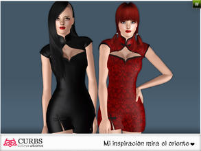 Sims 3 — curbs mini dress 07 by Colores_Urbanos — Everyday in 2 recolores, 2 recolorable area. valid for maternity!!!