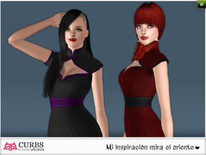 Sims 3 — curbs mini dress 08 by Colores_Urbanos — Everyday in 2 recolores, 2 recolorable area. valid for maternity!!!