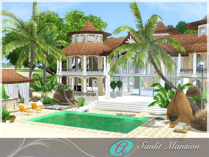 Aloleng 39 s sunlit mansion beach house for Beach house plans sims 3