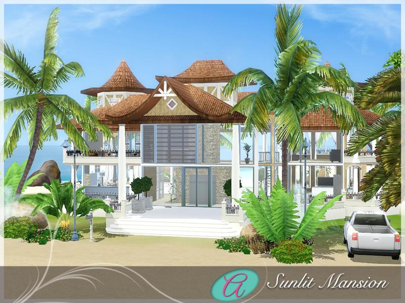 Aloleng 39 s sunlit mansion beach house for Beach house designs for sims 3