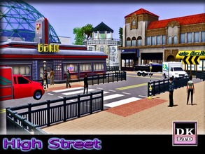 Sims 3 — High Street by DK_LTD — The sims high street is a place where sims can shop till they drop, eat at the diner or