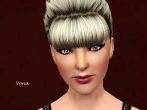 Sims 3 — Vona  by smellyfish2 — Vona. Born to conservative parents, rebellious Vona decided to break away from her boring