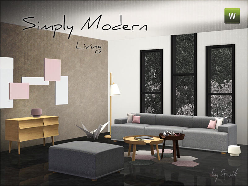 Home · Sims 3 Modern Living Room · Gosik\u0027s Simply Modern Living