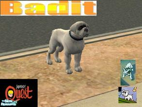 Sims 2 — Cast of Jonny Quest - Bandit by Small Town Sim — Bandit is the mischievous, adventurous...and lazy pet of the
