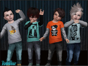 Sims 3 — ToddlerFSet1_Longsleeve by Shojoangel — Hi...fashionable and trendy set...recolorable...have a nice day :)