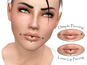 Sims 3 — Piercing Set 01 by Ms_Blue — Set consisting of two piercings for Y/A. Dimple piercing which can be found under