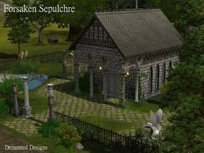 Sims 3 — Forsaken Sepulchre by Demented_Designs — An abandoned graveyard with a catacomb style masoleum that you can