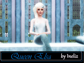 Sims 3 — Queen Elsa by Ineliz — Would you like to try out a role of a snow queen? To have control over the cold weather