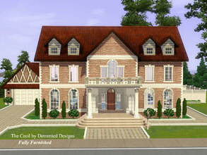 Sims 3 — The Cecil Fully Furnished by Demented_Designs — A mansion furnished with a elegant shabby chic feel that