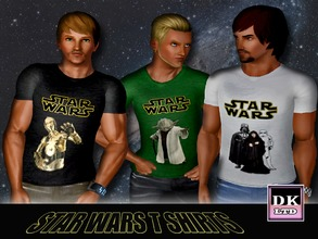 Sims 3 — Star Wars Character T Shirts by DK_LTD — Short-sleeved star wars t shirt for the guys. Comes in three styles.