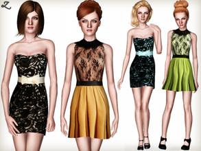Sims 3 — Fashion Set 3 by zodapop — A set of two chic dresses that are perfect for your sims' evening out or a