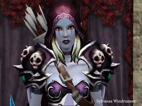 Sims 3 — Sylvanas Windrunner by Demented_Designs — The evil Banshee Queen of the Undead Horde from World of Warcraft,