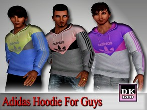 Sims 3 — Adidas Hoodies For Guys by DK_LTD — Long-sleeved adidas hoodie for the guys. All can be recolored, 3 recordable