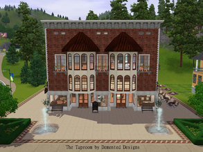 Sims 3 — The Taproom by Demented_Designs — This bar and grill also features a loft apartment, breakroom, office, storage