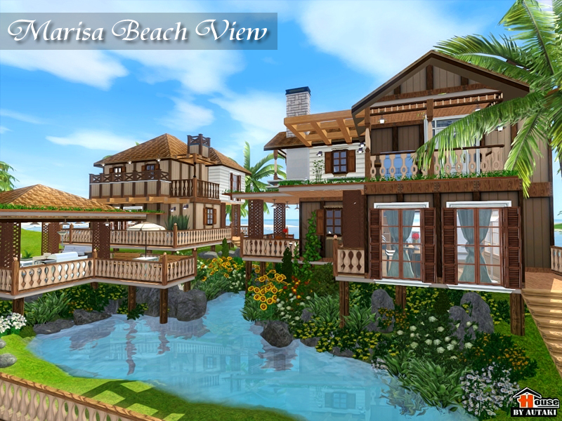 Autaki 39 s marisa beach view for Best house designs for the sims 3