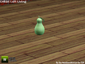 Sims 3 — Modern Urban Rustic Loft Living Ceramic Pear by TheNumbersWoman — Urban life, urban times, urban living.The