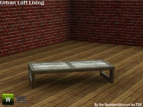 Sims 3 — Modern Urban Rustic Loft Living Coffee Table by TheNumbersWoman — Urban life, urban times, urban living.The
