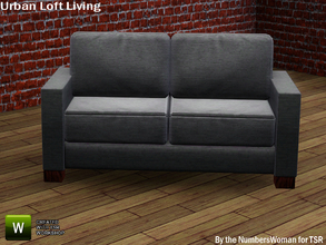 Sims 3 — Modern Rustic Loft Living Sofa by TheNumbersWoman — Urban life, urban times, urban living.The NumbersWoman at