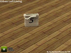 Sims 3 — Modern Urban Rustic Loft Living Bag by TheNumbersWoman — Urban life, urban times, urban living.The NumbersWoman