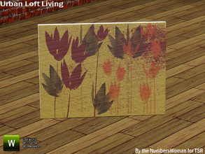 Sims 3 — Modern Urban Rustic Loft Living Floor Picture Two by TheNumbersWoman — Urban life, urban times, urban living.The