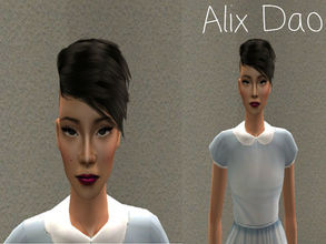 Sims 2 — Alix Dao by renegaderunway — This Vietnamese socialite is currently working on her first novel documenting the