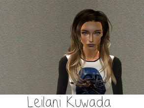 Sims 2 — Leilani Kuwada by renegaderunway — Hawaiian born and raised, Leilani has had her eyes on the ocean since her