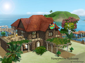 Sims 3 — Honeymoon Hideaway by Demented_Designs — This resort is a honeymoon dream, you can tie the knot at the chapel,