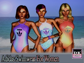 Sims 3 — Adidas Swimwear For Women by DK_LTD — All in one swimming costume for woman. All can be recolored, 4 recordable