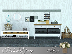 Sims 3 — Practical Storage by Lulu265 — Get a restful feel in your hallway with a classic dove-grey colour scheme.Temper