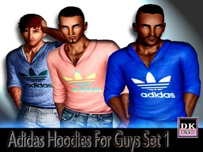 Sims 3 — Adidas Hoodies For Guys Set 1 by DK_LTD — Short-sleeved adidas hoodie for the guys. All can be recolored, 4